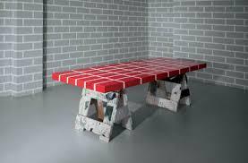 Red brick furniture Living Room Red Brick Table No4 Memphis Milano Karaeliseco Red Brick Table No4 Memphis Milano