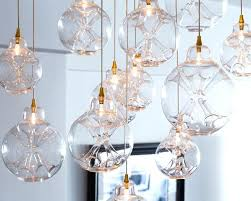 cloud chandelier custom made blown glass transitional oly muriel