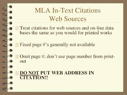 Ppt Mla In Text Citations Powerpoint Presentation Id4625109