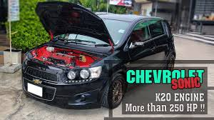 Chevrolet Sonic K20 Engine More than 250 HP - YouTube