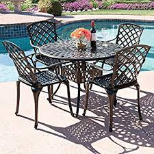 aluminum patio furniture. Interesting Aluminum Best Choice Products 5Piece Cast Aluminum Patio Dining Set W 4 Chairs Throughout Furniture