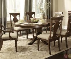 pedestal table dining room set