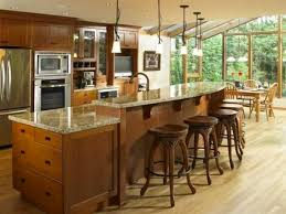 Kitchen Islands With Seating | ... Of Kitchens   Traditional   Light Wood  Kitchen Cabinets (Kitchen #151 | Ideas For The House | Pinterest | Light  Wood ...
