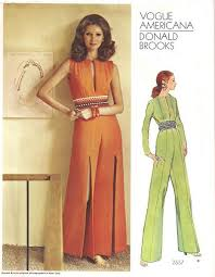 Jumpsuit Pattern Vogue Amazing 48's Vogue 48 Donald Brooks Slit Leg Jumpsuit Pattern Vintage