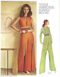 Jumpsuit Pattern Vogue Amazing 48's Vogue 48 Donald Brooks Slit Leg Jumpsuit Pattern Vintage