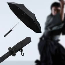 Cool Samurai swords folding umbrella sword creative Half self opening  umbrella Wind uv protection Deadpool Umbrella YS218-in Umbrellas from Home  & Garden on ...