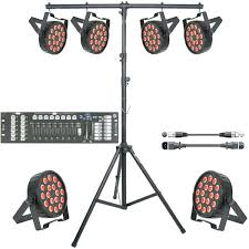 led stage lighting kit uk party bar portable school slim par controller stand cable