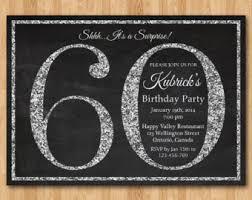 60 birthday invitations 60th birthday invitation blue glitter birthday party invite