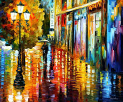 lost in the rain palette knife oil painting on canvas by afremovartstudio official
