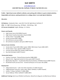 Example Resume For High School Students College Applicationsemplate