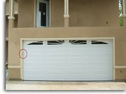 keypad access installed outside the garage door