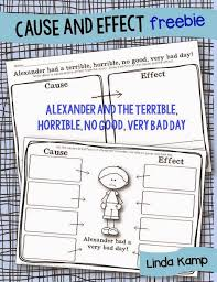 FREE Printable Cause and Effect Worksheet for Alexander and the ...