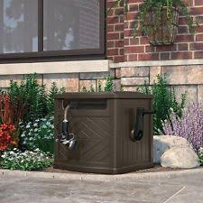 garden hose box. Portable Outdoor Garden 150 Ft Hideaway Water Hose Storage Patio Container Box N