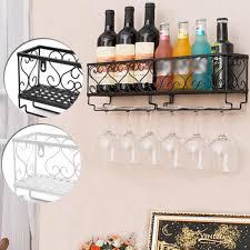 white black wine rack wall mounted