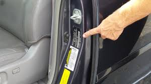 open up your driver s side door and you ll find a sticker about the size of a credit card that s your car s vin or vehicle identification number