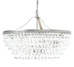 glass crystal chandelier drop round pottery barn best of