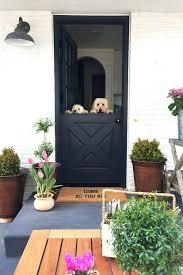dutch entry door crisp black with fresh greenery dutch entry door steel dutch entry door