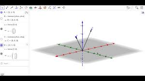 plotting points and vectors in 3d with geogebra