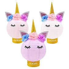Diy Party Printables Unicorn Party Decorations Unicorn Table Centerpieces Paper Lanterns Diy Ideas For Unicorn Baby Shower Birthday Party Supplies