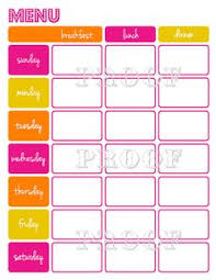 weekly meal planning for two weekly menu planner organized home homemaking pinterest