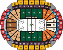 Target Center Seating Chart Seating Charts Xcel Energy Center Within Target Center