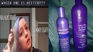 Does Walmart Sell Shimmer Lights Shampoo Clairol Shimmer Lights Equate Purple Shampoo Which One Is Better