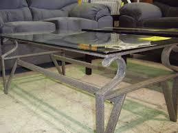 Steel Coffee Table Frame Glass Metal Coffee Table