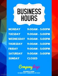1 150 Customizable Design Templates For Opening Hours Postermywall