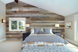 view in gallery serene and stylish contemporary bedroom with a wood accent wall design bruce johnson