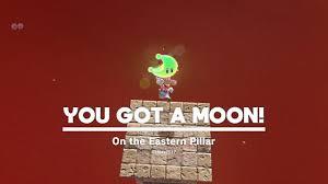 super mario odyssey sand kingdom moon 76 on the eastern pillar