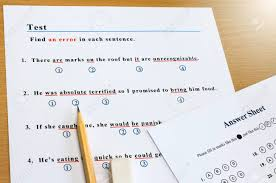 English Grammar Multiple Choice Test To Find An Error In Each