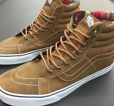 new vans sk8 hi brown leather