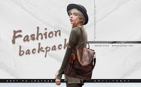 Women Backpack Purse PU Leather Anti-theft Casual ... - Amazon.com