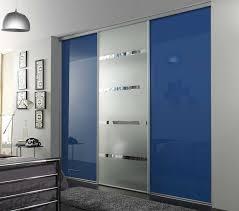 aluminum framed contemporary sliding closet sliding door with selver blue ed glass