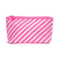 ban do looking good makeup bag ticket stripe neon