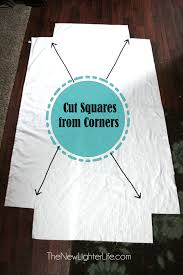 cutting corners for fitted sheets