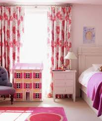 Pink Bedroom Curtains Floral Pink Bedroom Curtains And White Nighstand Fun Kids