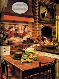 in the bnotp library paula deen s savannah style fireplace in kitchenkitchen