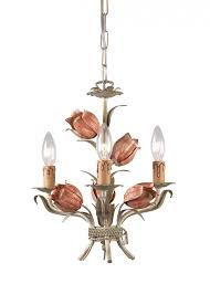 crystorama southport 3 light sage rose mini chandelier