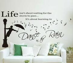 wall quotes art wall sticker dance in