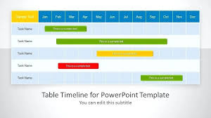 Table Timeline Template For Table Timeline Template For Ppt