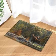 wild animal decor moose door mat rug bathroom carpet bedtoom bath mats non slip