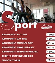 abonamente arena gym septembrie 2016