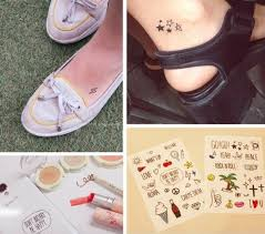 Cute Little Fresh Tattoo Paste Suits