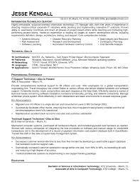 Skills In Information Technology Resume Information Technology