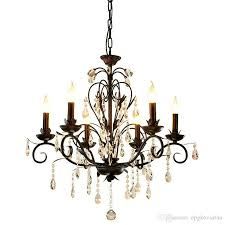 chandelier lighting vintage rustic wrought iron chandelier wedding decoration black led crystal chandeliers 6 8 light e14 led lamp chandeliers for bedrooms