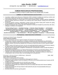Best Hr Resume Format Personal Statement For Human Resource