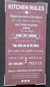 new red cream kitchen rules canvas wall