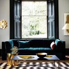 dark sofa decorating with darker colours