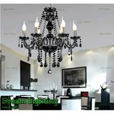 full crystal chandeliers 6 lights fixture ceiling light black crystal malaysia